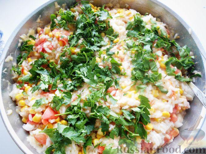 Рецепт Рис с кукурузой и помидорами