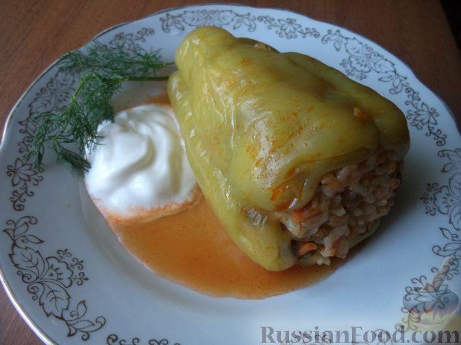 Рецепт Фаршированные перцы с рисом и грибами
