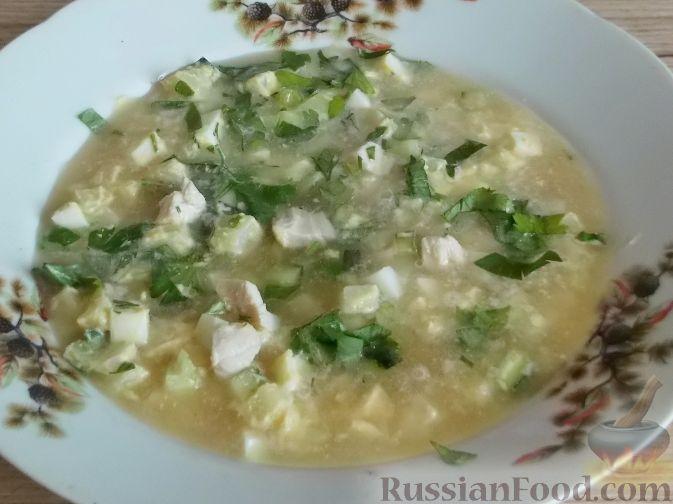 Рецепт Окрошка с курицей