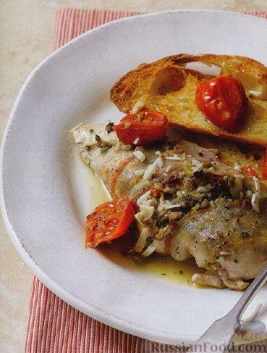Рецепт Куриное филе, запеченное с оливковой пастой