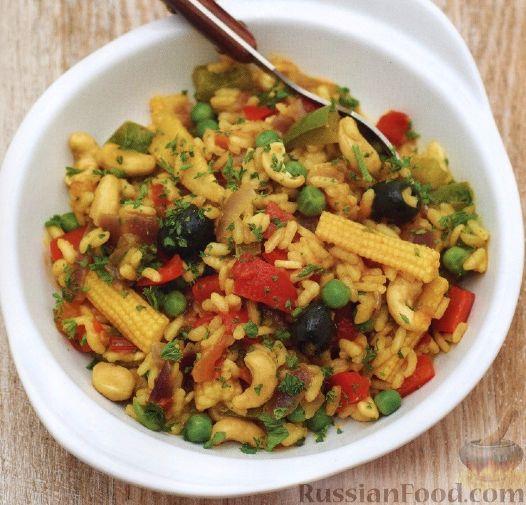 Рецепт Паэлья с овощами и кешью