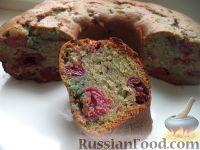 Фото к рецепту: Постная шарлотка с вишней