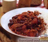 Фото к рецепту: Мясной соус с фасолью