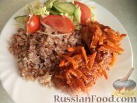 Фото к рецепту: Постные котлеты из морской рыбы, в томатной подливке
