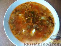 Фото к рецепту: Грибной суп с картофелем и солеными огурцами