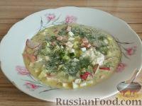 Фото к рецепту: Окрошка мясная по-русски