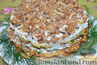 Фото к рецепту: Кабачковый торт с грибами
