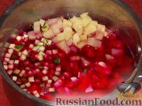 Фото приготовления рецепта: Свекольник холодный летний - шаг №12