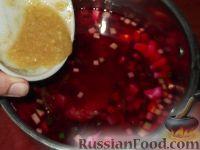Фото приготовления рецепта: Свекольник холодный летний - шаг №15