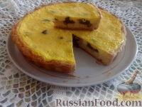 Фото к рецепту: Пирог с творогом и черносливом
