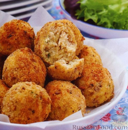 Рецепт Крокеты из куриного мяса с травами