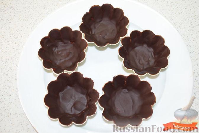 Фото приготовления рецепта: Творожок в шоколаде - шаг №3
