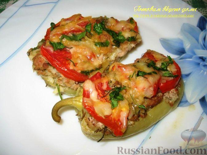 Рецепт Болгарский перец, фаршированный половинками