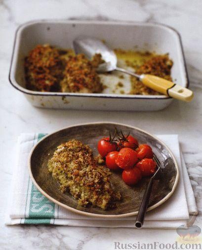 Рецепт Куриное филе, запеченное под хрустящей сырной корочкой