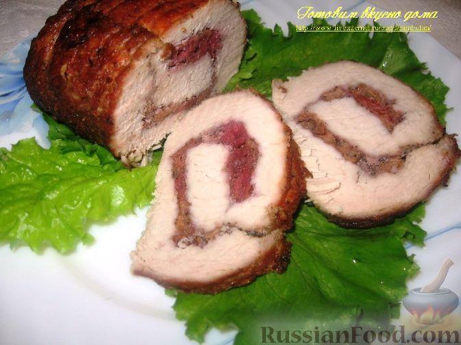 Рецепт Свиной рулет с вишней