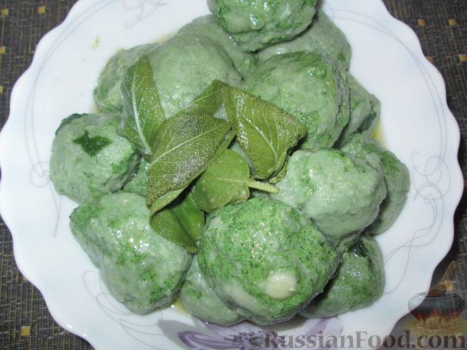 Рецепт Ньокки из шпината и сыра рикотта (творога)