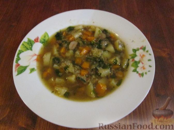 грибной суп с чечевицей рецепты с фото