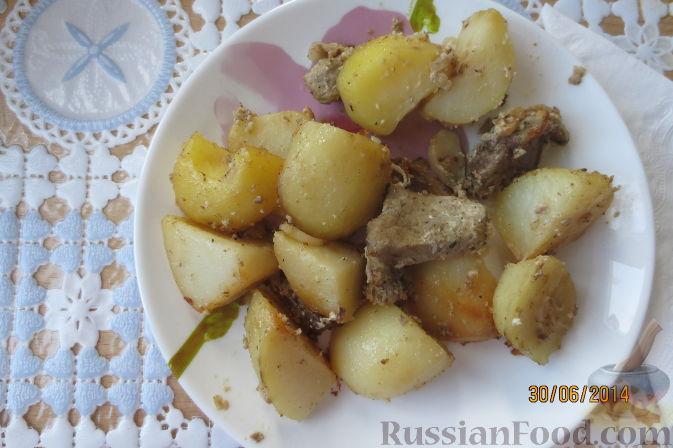 Рецепт Картофель со свининой в духовке