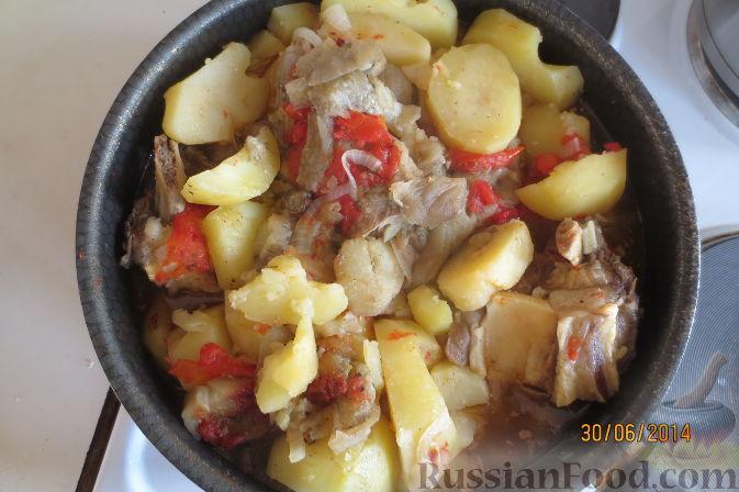 Рецепт Тава (картофель с говядиной, баклажанами и помидорами)