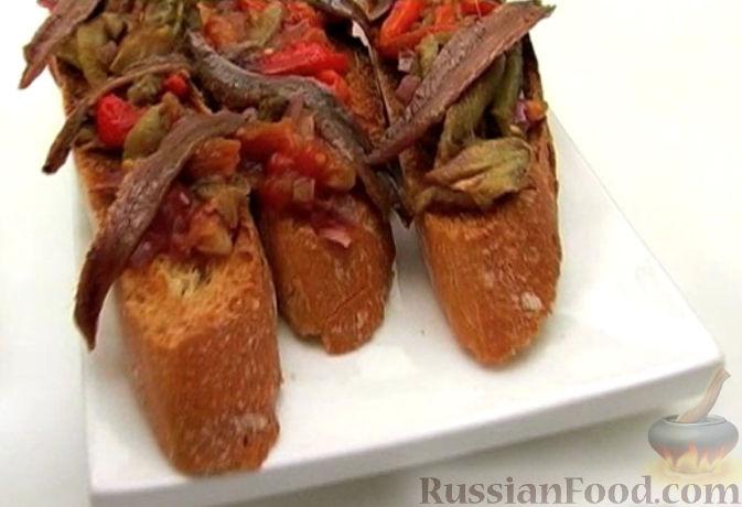 Рецепт Печеные овощи на чесночных тостах