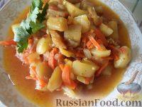 Фото к рецепту: Рагу из баклажанов с болгарским перцем