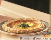 Фото к рецепту: Хумус с оливковым маслом и паприкой