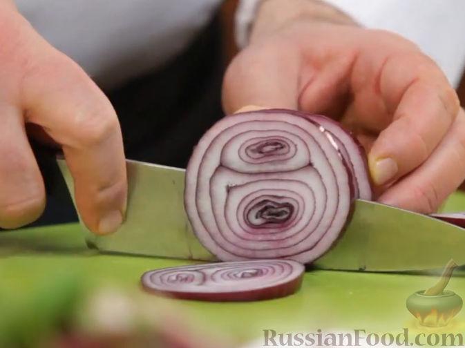 салат с скумбрией горячего копчения рецепт с фото