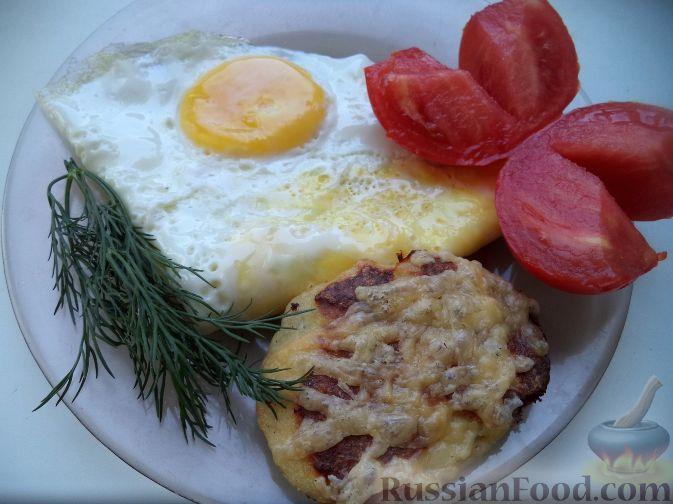 Рецепт Котлеты из куриного фарша в духовке с сыром