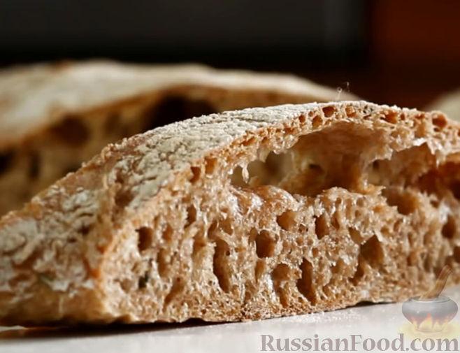 Рецепт Итальянский хлеб чиабатта со свежим розмарином