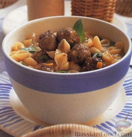 Рецепт Суп с тефтелями и макаронами