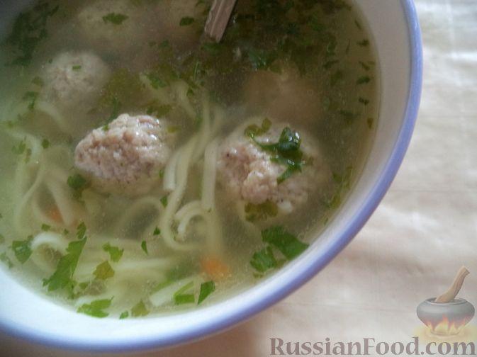 Рецепт Картофельный суп с фрикадельками и лапшой
