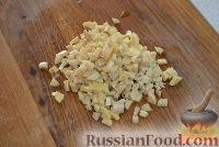 Фото приготовления рецепта: Жареный лаваш с колбасой и сыром - шаг №3