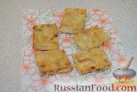Фото приготовления рецепта: Жареный лаваш с колбасой и сыром - шаг №7