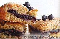 Фото к рецепту: Песочный пирог с черникой