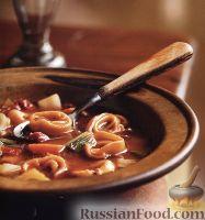 Фото к рецепту: Томатный суп с тортеллини