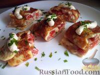 Фото к рецепту: Омлет с ветчиной и помидорами