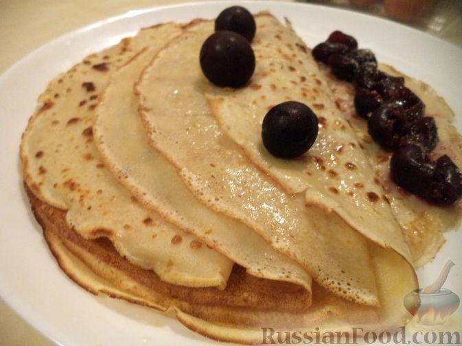 Рецепт Блинчики заварные молочно-йогуртовые