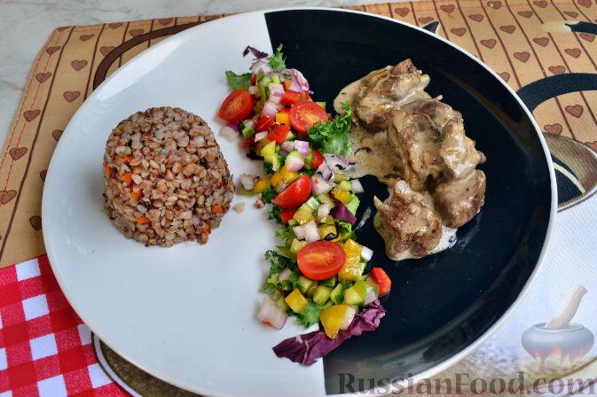 Рецепт Греча (гречка) с куриной печенью