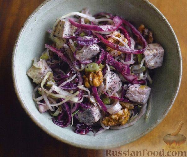 Рецепт Капуста с грецкими орехами и сыром тофу