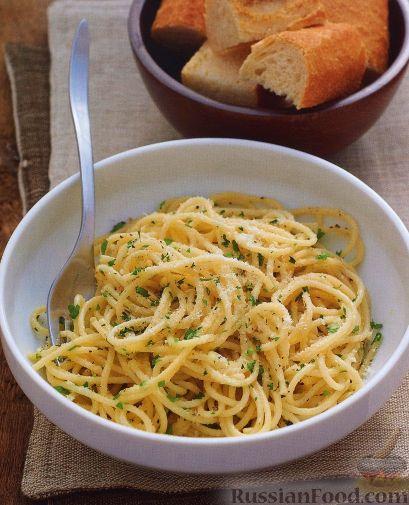 Рецепт Спагетти с петрушкой и сыром