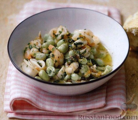 Рецепт Рагу из морепродуктов с бобами