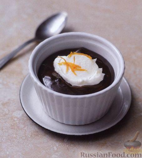 Рецепт Шоколадный крем-мусс с апельсинами