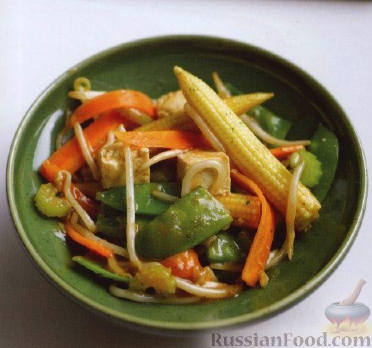 Рецепт Овощи, жаренные с тофу