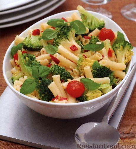 Рецепт Макароны с помидорами и брокколи