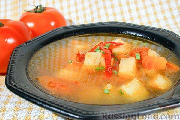 Рецепт Суп из печеных овощей.