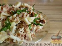 Фото к рецепту: Салат из консервированного тунца с яблоками и сельдереем