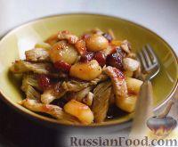 Фото к рецепту: Индюшиное филе с имбирем и каштанами