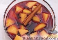 Фото к рецепту: Персики в красном вине