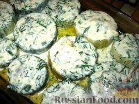 Фото приготовления рецепта: Фаршированные кабачки с укропным соусом - шаг №7