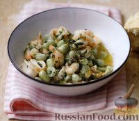 Фото к рецепту: Рагу из морепродуктов с бобами